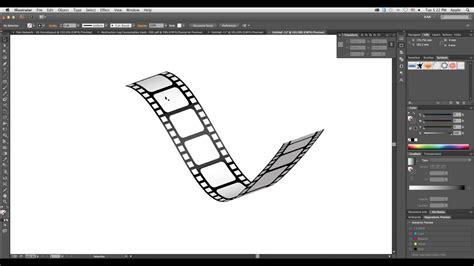 create  film strip  adobe illustrator simple