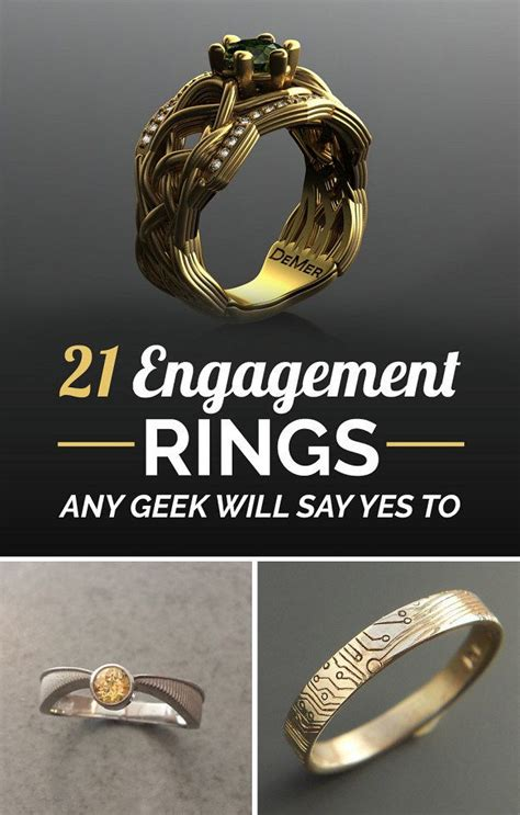 21 ridiculously gorgeous geeky engagement rings nerdy