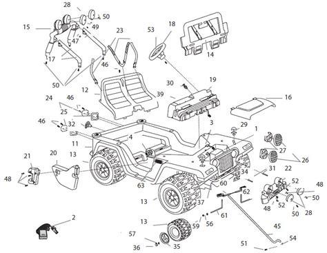 Power Wheels Barbie Jammin Jeep Parts