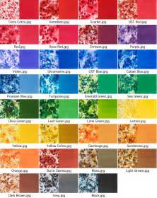 Brusho Crystal Color Chart