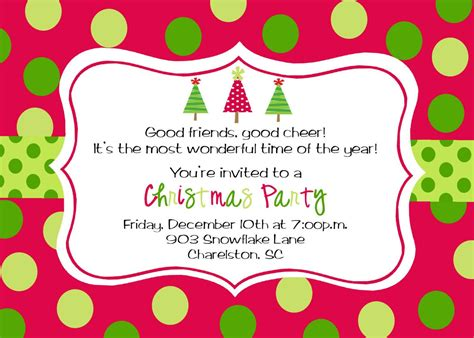 Christmas Party Invitation Template Christmas party