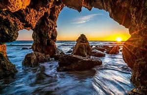 Usa, Sea, Scenery, Malibu, Crag, Rays, Of, Light, Nature, Wallpapers, Hd, Desktop, And, Mobile