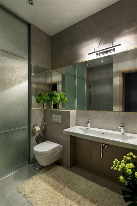 Modern bathrooms with bright and red walls + images 26 february 2021. Spacious Apartment With Family Friendly Decor