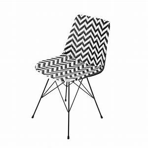 Chaise Jardin Maison Du Monde : chaise en r sine tress e et m tal noire blanche zigzag ~ Premium-room.com Idées de Décoration