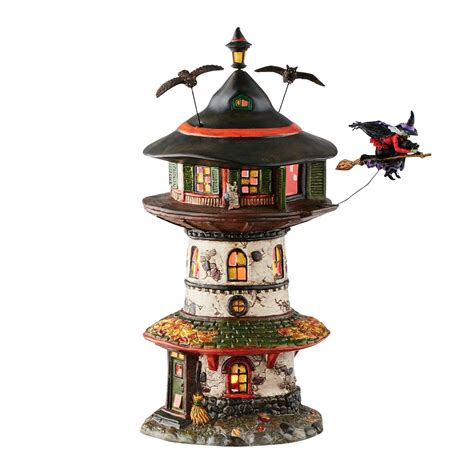 city lights collectibles department 56 4051009 witch way home tower