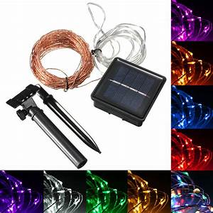 15m 150 Led Solar Powered Copper Wire String Fairy Light Xmas Hallowmas Christmas Party Decor