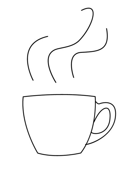 Coffee Coloring Pages Printable Sketch Coloring Page