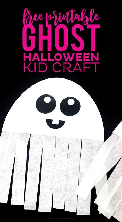 printable ghost halloween craft halloween crafts