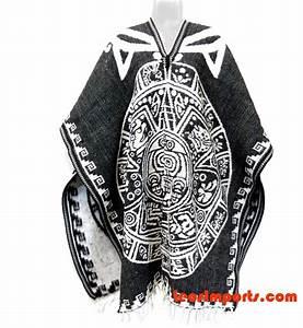 Mexican Poncho Aztec Calendar