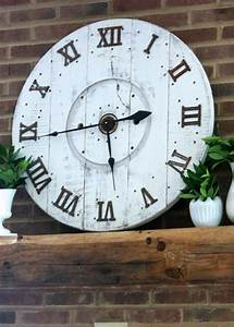 How To Turn A Cable Spool Into A Stunning Wall Clock