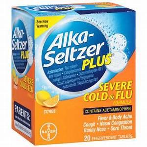 Alka-Seltzer Severe, Cold, Flu, Citrus Effervescent ...