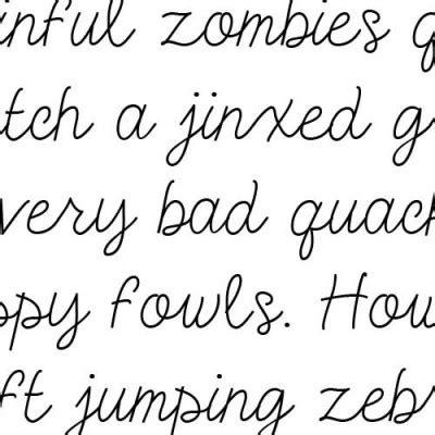 Doodle Cursive Font