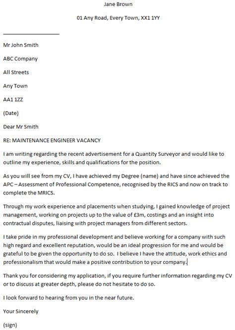 quantity surveyor cover letter  learnistorg