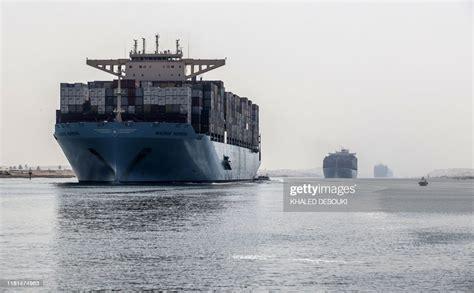 container ship sails    section   suez