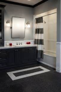 black white and silver bathroom ideas there 39 s nothing more than a black white bathroom with subway tile and rounds