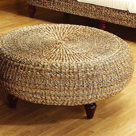 tropical round coffee table tropical round ottoman coffee table natural banana