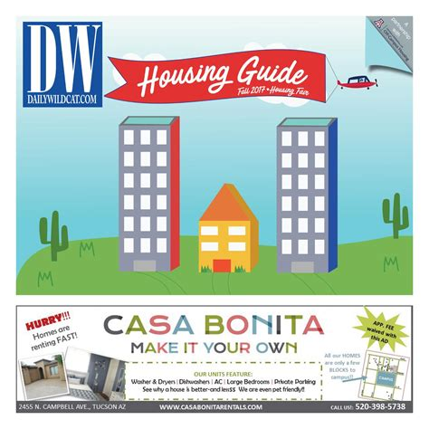 DW Fall 2017 Housing/Apartment Guide by Arizona Daily