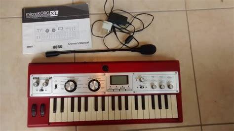 korg microkorg xl synthesizer vocoder limited edition