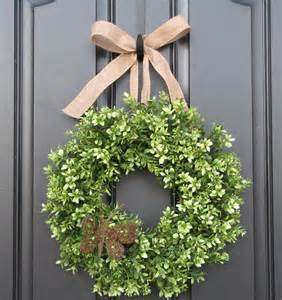 boxwood wreath door wreaths spring wreath by twoinspireyou