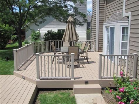 certainteed decking and railing sandridge timbertech xlm decking with clay certainteed