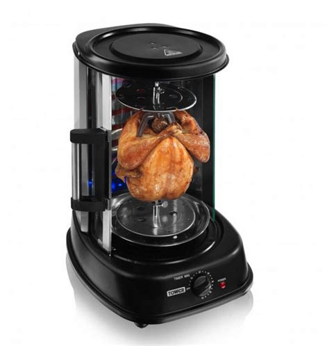 tower rotating vertical rotisserie grill cooking gizmos