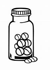 Medicine Bottle Coloring Pill Drawing Bottles Sheet Sketch Getdrawings Template Police sketch template