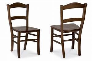Chaise En Bois Massif : mu41 chaise rustique en bois diff rentes teintes disponibles avec assise en bois ou paille ~ Teatrodelosmanantiales.com Idées de Décoration
