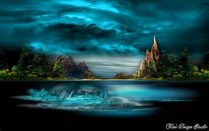 Animated Landscape Atlantis Nature Wallpapers Water Backgrounds