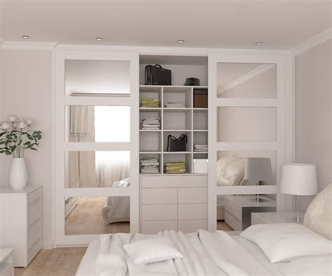 Big Bedroom Wardrobes by Fully Fitted Wardrobes Range With Mirrored Doors In Spray