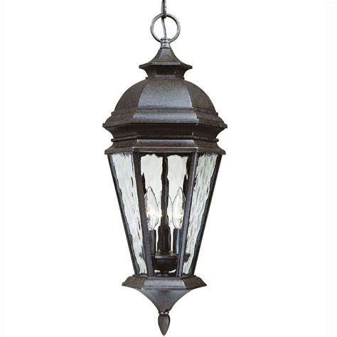 hton bay georgetown 3 light bronze outdoor lantern