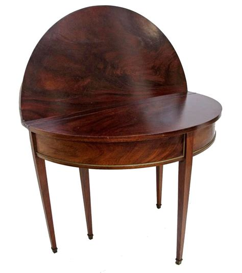 antique tables for directoire style demilune dining table at 1stdibs 7487