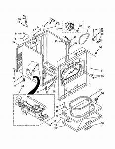 Cabinet Diagram  U0026 Parts List For Model 11072622101 Kenmore