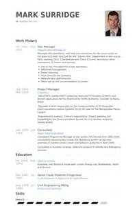 site manager resume templates bauleiter cv beispiel visualcv lebenslauf muster datenbank