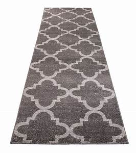 Flur Teppich Grau : l ufer modern br cke flur teppich muster marokkanisch grau calm kollektion online shop ~ Indierocktalk.com Haus und Dekorationen