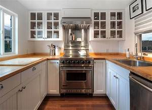 wood countertops cottage kitchen hyde evans design With what kind of paint to use on kitchen cabinets for framed textile wall art