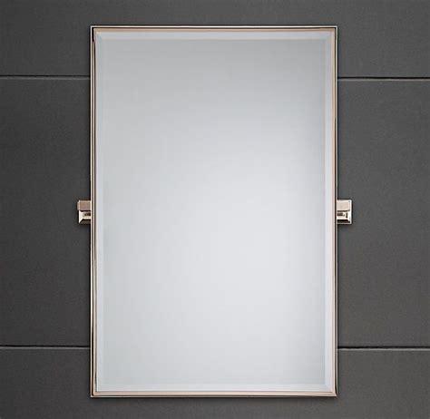 pivot bathroom mirror chrome dillon rectangle mirror in chrome finish restoration