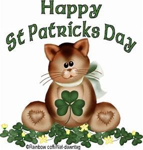 Webset: Happy St Patricks day cute cat with shamrock ...