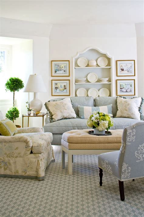Traditional Blue Living Room Decorating Ideas