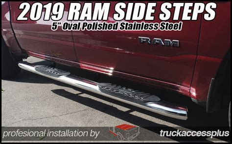 ram crew cab  wide polished ss steps truck
