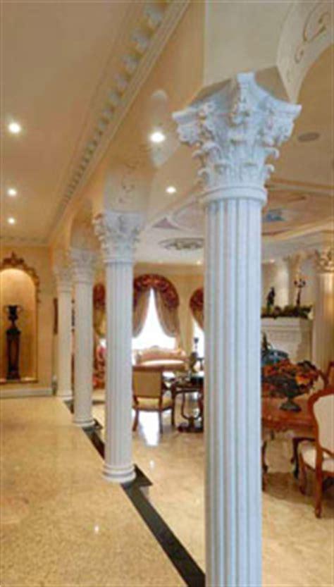 colonne en platre pour decoration interieure colonne de pl 226 tre d 233 corative base et chapiteau cr 233 ations cornici