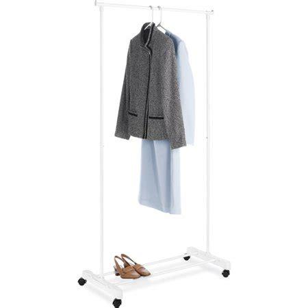 walmart clothing rack mainstays rolling garment rack white walmart
