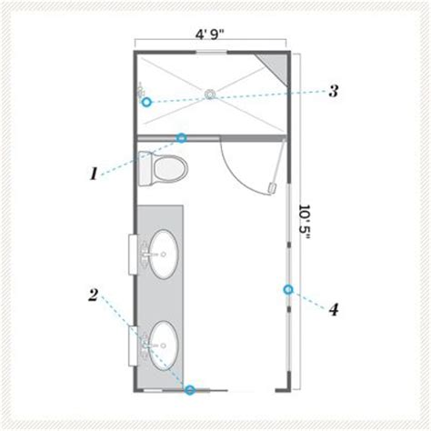 Small Master Bathroom Floor Plan by A Bath That S Still Narrow But Brighter And Airier
