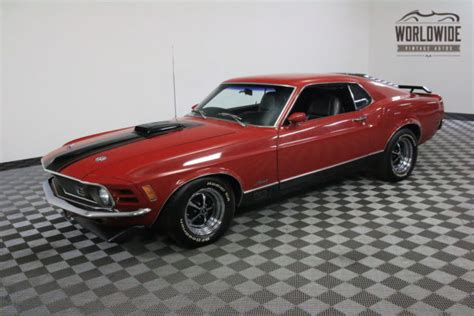 1970 Red 351 Cleveland V8 4 Speed! For Sale  Ford Mustang