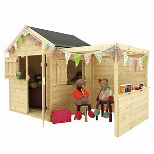 Maison Pour Enfant En Bois : maisonnette enfant bois alpaga avec pergola l125 x p121 6 ~ Premium-room.com Idées de Décoration