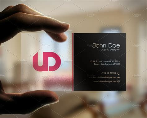 creative transparent business card business card