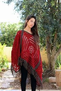 Vintage Granny Square Poncho Crochet Poncho Pattern Pdf