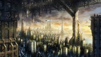 cityscape futuristic hd wallpapers desktop  mobile