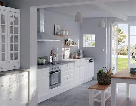 castorama fr cuisine castorama cuisine authentik blanc une cuisine de