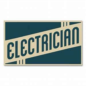 Retro electrician business card | Retro, Graphics and ...