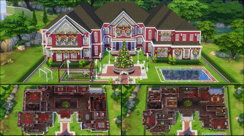 house plans for mansions sims 4 family house plans